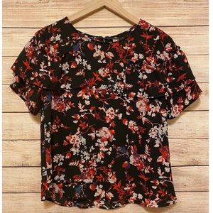 Women's size small floral blouse top